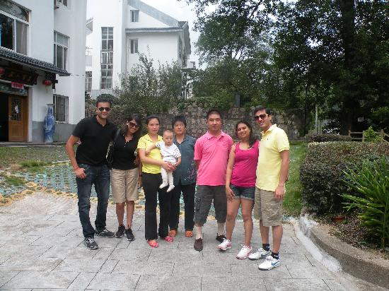 Mount Huangshan Fuli building Villa: with the owner and his family