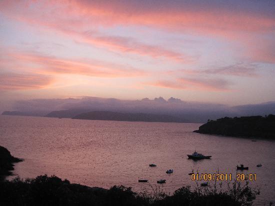 Hotel Dino : tramonto con cielo velato
