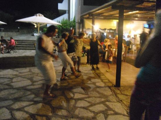 Lito Hotel: the night on terrace