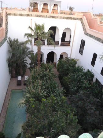 Riad Samarkand: Looking down at the garden