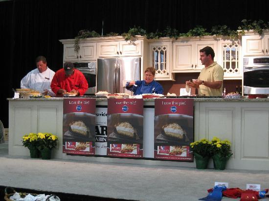 Kentucky Fair and Exposition Center : Judges sampling the Pie Baking Championship finalists.