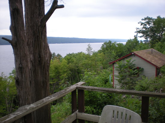 Finger Lakes Waterfall Resort: View of Lake Seneca