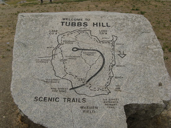 Tubbs Hill Nature Trails: Tubbs Hill Map Marker -- Coeur d'Alene