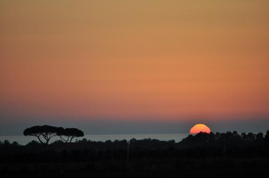 tramonto all'Agriturismo Barbadoro