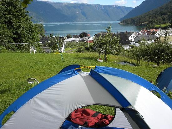 Eplet Bed & Apple: view from out tent