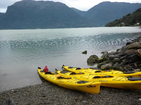 Eplet Bed & Apple: kayaking in the nearby fjord