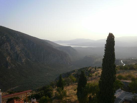 Delphi, Grécia: Atardecer en Delfos