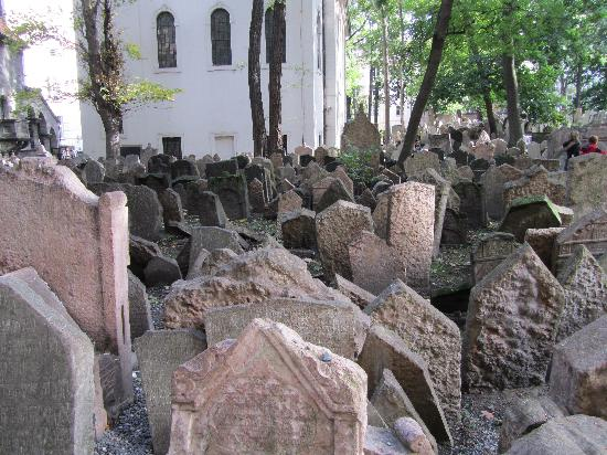 Old Jewish Cemetery: the leaning headstones