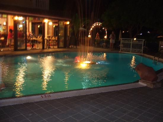 Elpida Hotel: The pool at night