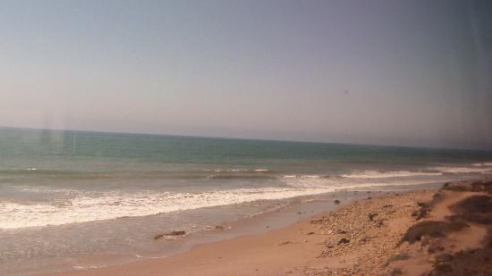 Coast Starlight: View of the beach from the train