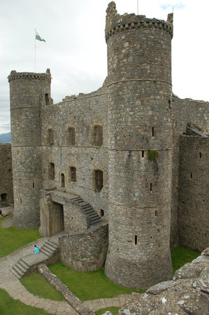 Harlech, UK: Forbidding walls