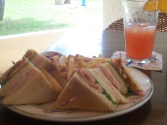 The Mermaid: club sandwich