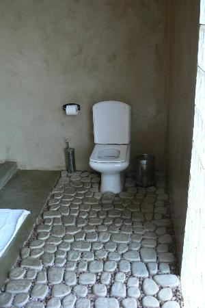 African Moon Corporate House: Toilet on unusual  flooring