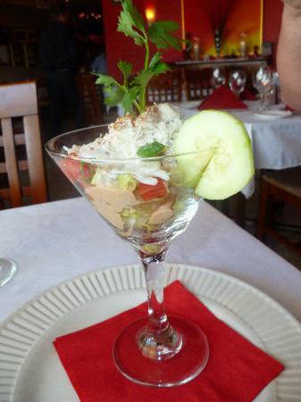 Crab martini