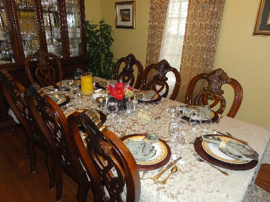 Accommodations Niagara Bed and Breakfast: Breakfast setting