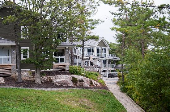 Touchstone on Lake Muskoka: A peekaboo view of the main lodge
