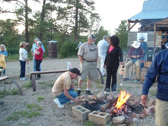 Astraddle A Saddle: campfire & marshmellows