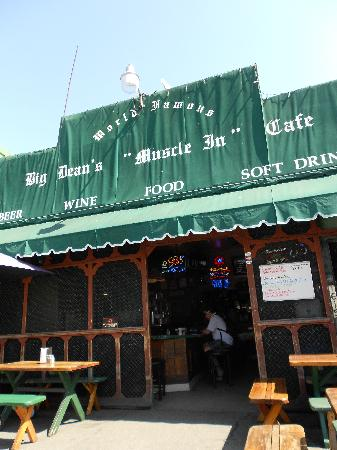 """Big Deans Oceanfront Cafe : Big Dean's """"Muscle-In"""" Cafe"""