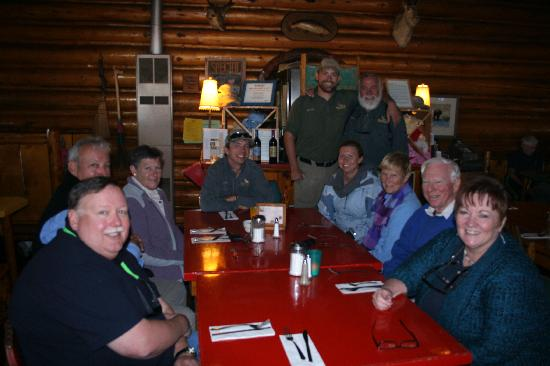 BrushBuck Wildlife Tours: BrushBuck Guides and Guests enjoy a lunch like family!