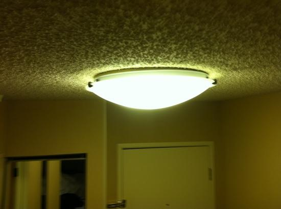 Holiday Inn Missoula Downtown: sweet popcorn ceilings - like a trailer house!