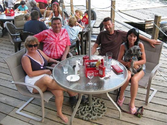 Dinner on the dock @ The Waubic.