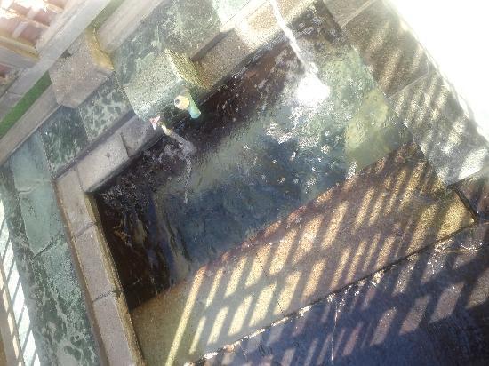Umiakari : 最初の部屋の露天風呂です。足湯でしょ?これ