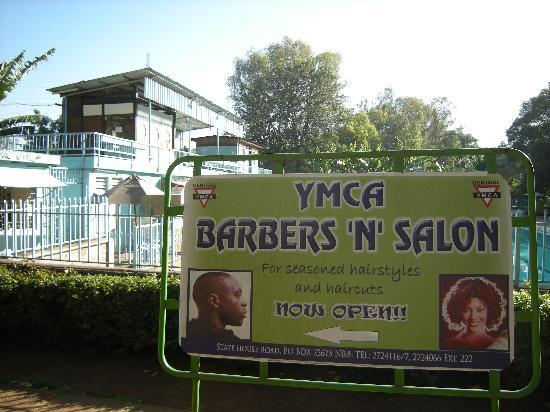 YMCA Nairobi (Central Branch): Friendly barber in the YMCA