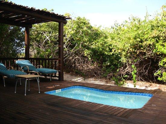 Anantara Medjumbe Island Resort: idromassaggio in veranda