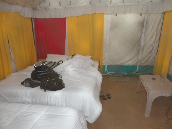 Camp Nirvana Yamunotri: The inside of a tent