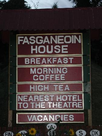 Fasganeoin Country House: Die Beschilderung