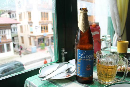 Plums Cafe : local Lager to go with Ema-Datchi