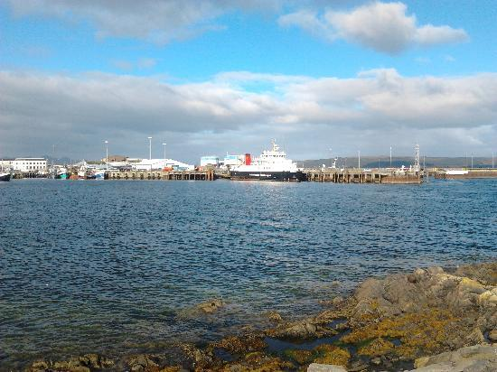 Western Isles Guest House: view of harbour from TWI