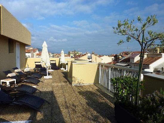 Quality Hotel Mediterranée: From the roof terrace