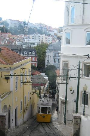 Heritage Avenida Liberdade Hotel : hotel in the background (blue), very close to the tram