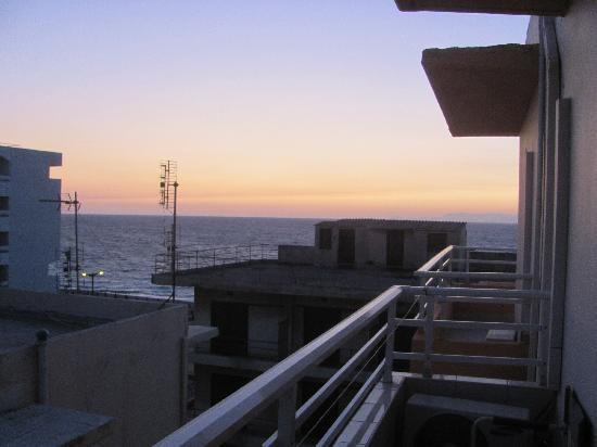 Seva's Studios: View of the sunset and the sea from our room