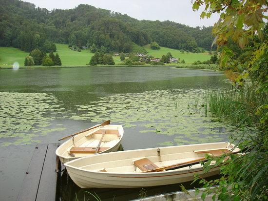 Bichelsee Balterswil, Suiza: Bichelsee im Regen