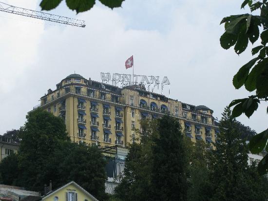 โรงแรมอาร์ทเดโก มอนทาน่าลูเซิร์น: Hotel Montana from Lake Luzern