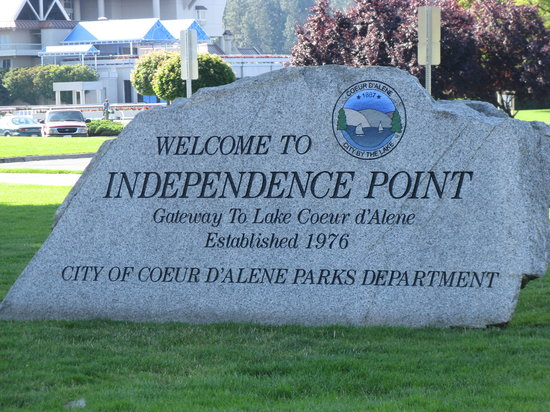 Coeur d'Alene City Park and Independence Point: Park at Coeur d'Alene, ID