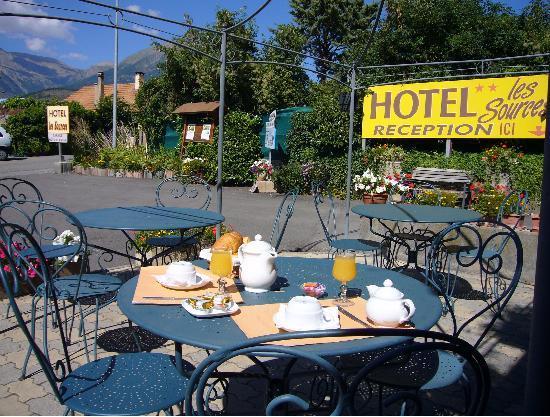 Hotel Les Sources : terrasse