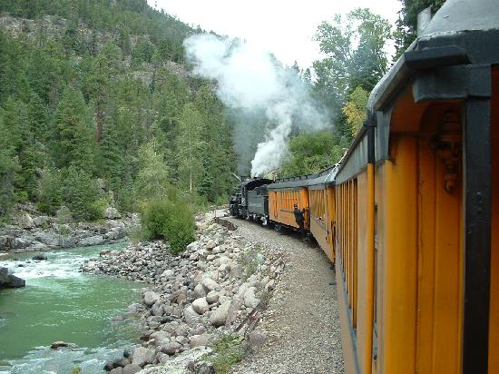 Durango and Silverton Narrow Gauge Railroad and Museum: Next to the Animas River