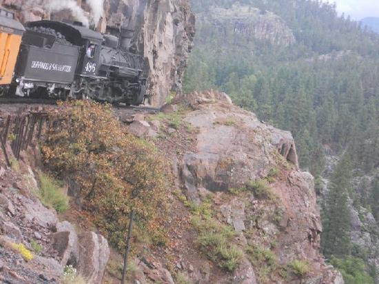 "Durango and Silverton Narrow Gauge Railroad and Museum: They don't call it ""Narrow"" for no reason."
