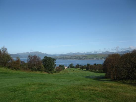 Erskine, UK: #18 tee Gourock Golf Club