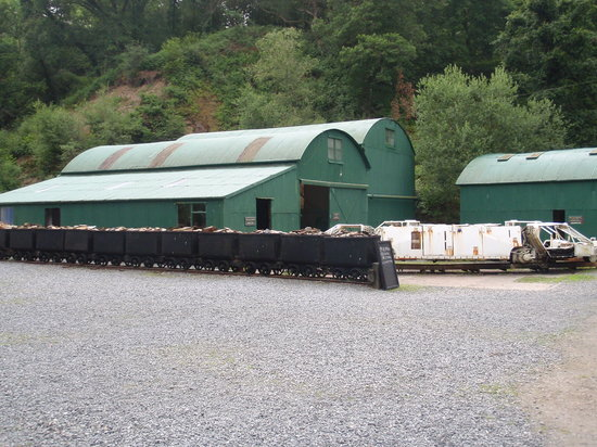 Dolaucothi Gold Mines: Display sheds within the compound