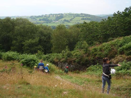 Dolaucothi Gold Mines: Outside the cave - the view