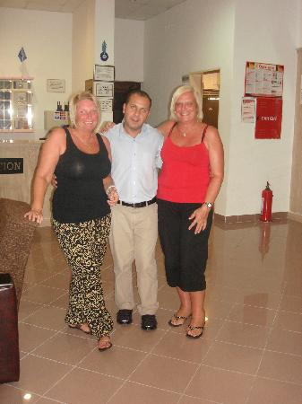 Hotel Kivilcim: the night receptionist with me and deb