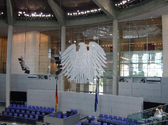 สภาผู้แทนราษฎรเยอรมัน: Inside the main chamber