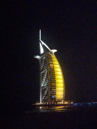Jumeirah Dar Al Masyaf at Madinat Jumeirah: View of the Burj Al Arab from the Wharf pub