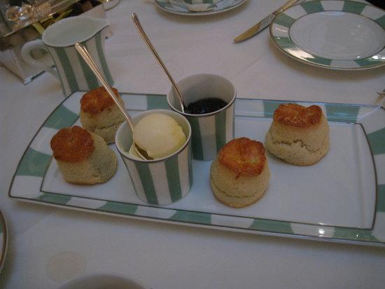 The Foyer At Claridge's: scones, cream, and jam