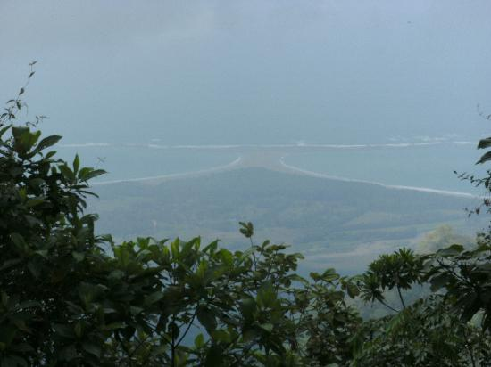 Jungle ATV Quad Tours: View of the whale's tail from high atop a mountain