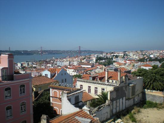Pensao Londres: View of '25th of April Bridge' & Tagus River